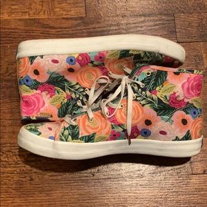 Keds and Rifle Paper company high top sneakers